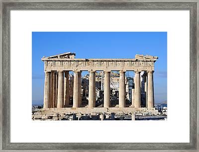 Parthenon Temple Framed Print