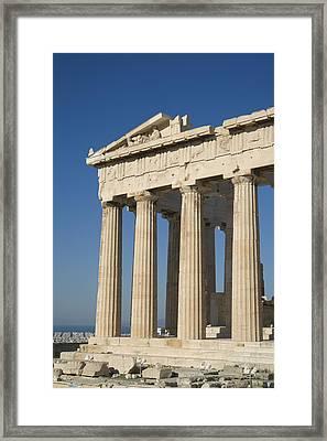 Parthenonathens Greece Framed Print