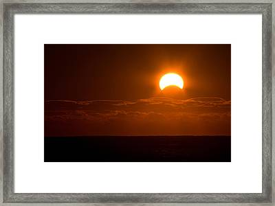 Partial  Eclipse Of The Sun Framed Print