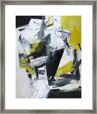 Framed Print featuring the painting Partial Figure by Fred Smilde