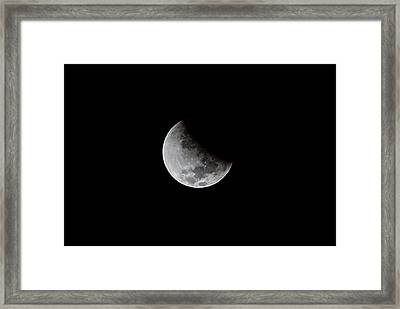Partial Phase Of A Total Lunar Eclipse Framed Print by Babak Tafreshi