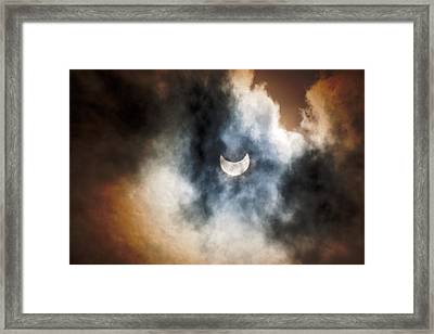 Partial Solar Eclipse Framed Print by Melanie Lankford Photography