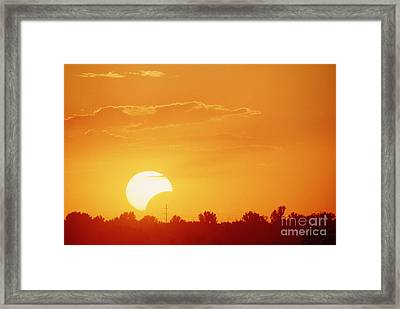 Partial Solar Eclipse Framed Print by William H. Mullins