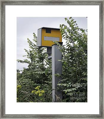 Partially Hidden Speed Camera Framed Print by Robert Brook
