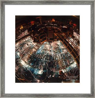 Particle Accelerator Framed Print by Science Source