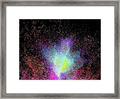 Particle Burst Framed Print
