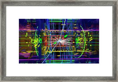 Particle Collision Event Framed Print by Cern