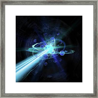 Particle Collision Framed Print