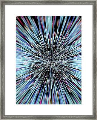 Particle Rays Framed Print