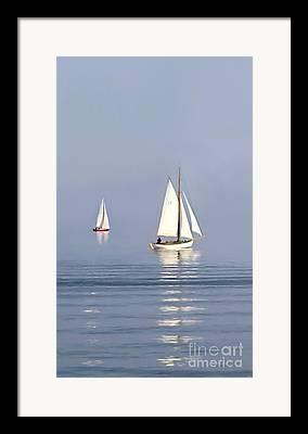 New England Ocean Digital Art Framed Prints