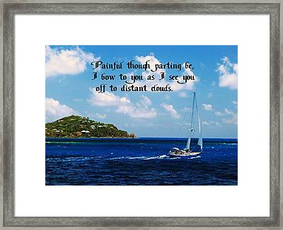 Parting Framed Print