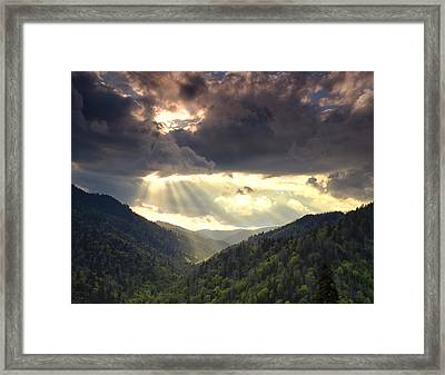 Parting Of The Sky Framed Print by Andrew Soundarajan