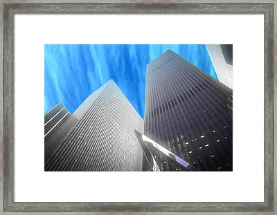 Partly Cloudy Day In New York Framed Print
