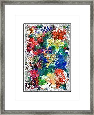 Partly Finished Bouquet Framed Print by Barry Monaco