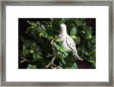 Partridge In The Ivy Framed Print by Tom Mc Nemar