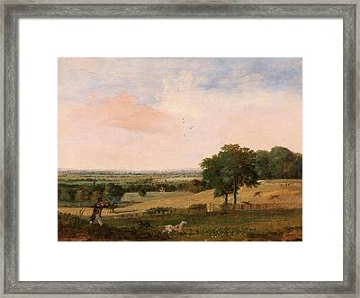 Partridge Shooting, Edward Duncan, 1803-1882 Framed Print by Litz Collection