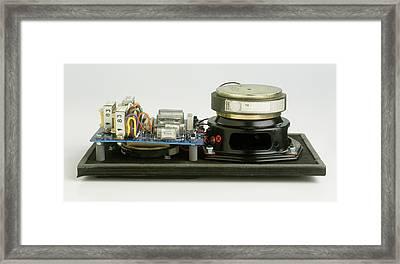 Parts Of A Loudspeaker Framed Print