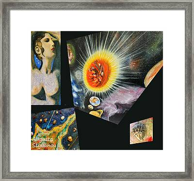 Parts Of Universe Framed Print by Augusta Stylianou