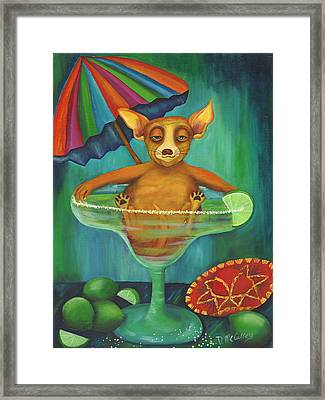 Party Animal  Ay Chihuahua Framed Print