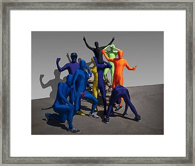 Party Animals  Framed Print by Paul Cannon