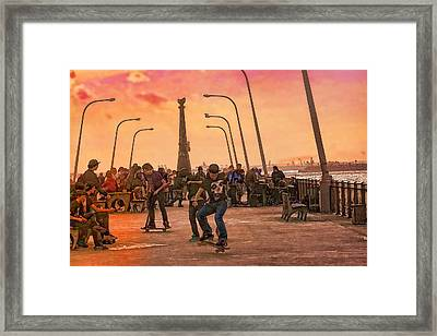 Party At The Pier Framed Print