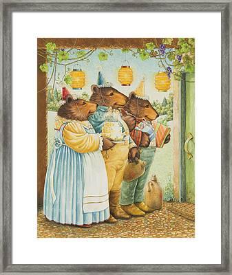Party Bears Framed Print