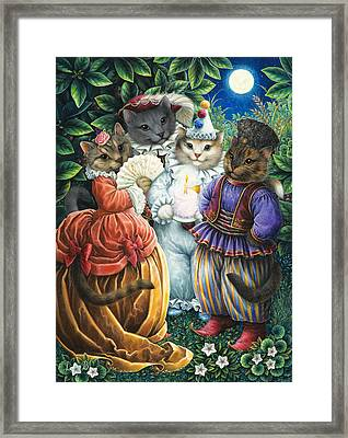 Party Cats Framed Print