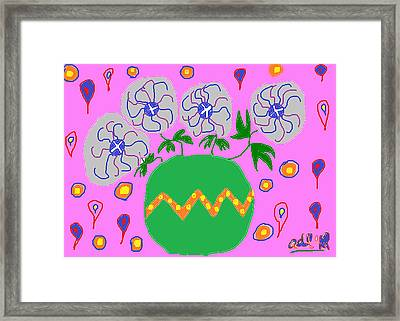Party Flowers Framed Print