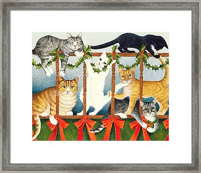 Party Games Framed Print by Pat Scott