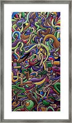 Party Life 2 - Modern Abstract Painting - Ai P. Nilson Framed Print