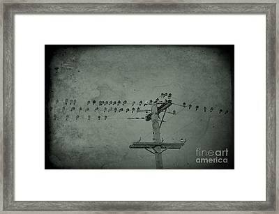 Party Lines Framed Print by The Stone Age