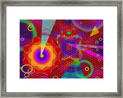 Party Mood Framed Print by Mathilde Vhargon
