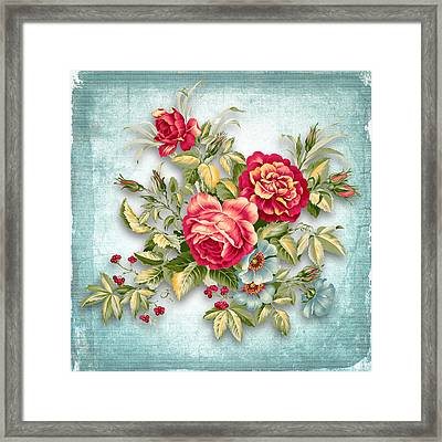 Party Of Flowers  Framed Print