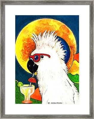 Party Parrot 1 Framed Print by Melodye Whitaker