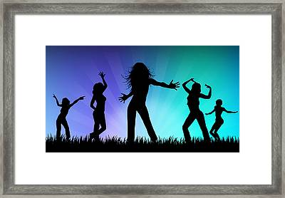 Party People Framed Print by Aged Pixel