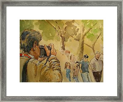 Party Photographer Framed Print