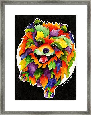 Party Pom Framed Print