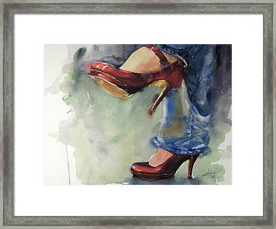 Party Shoes Framed Print