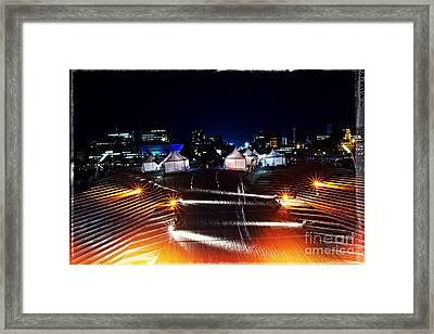 Party Tents At The Pier Framed Print by Beverly Claire Kaiya