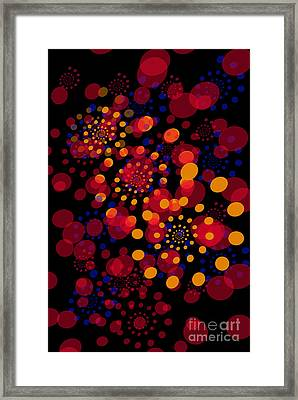 Party Time Abstract Painting Framed Print by Claudia Ellis