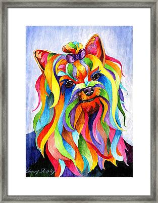 Party Yorky Framed Print