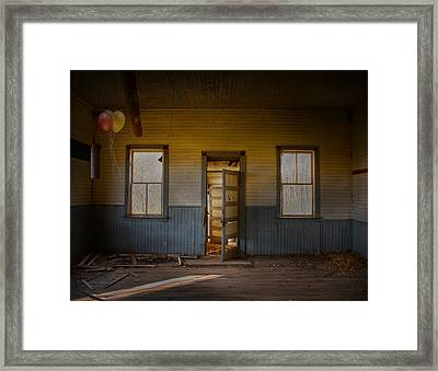 Partys Over  Framed Print by Empty Wall