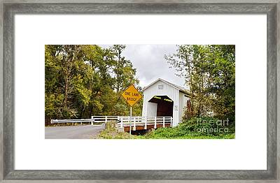 Parvin Covered Bridge Framed Print by Ansel Price
