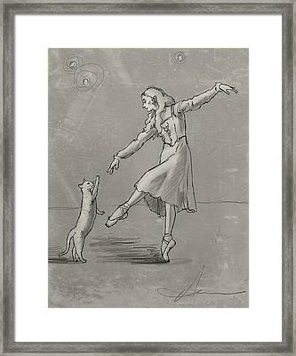 Pas De Deux From The Tiger Of Tangiers Framed Print by H James Hoff
