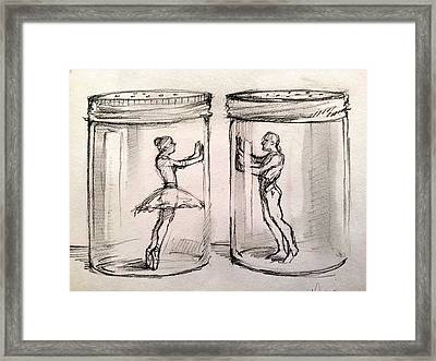 Pas De Deux Framed Print by H James Hoff