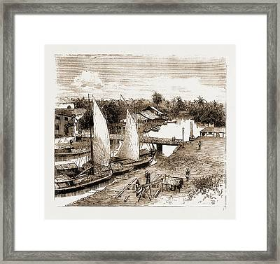 Pasar-bahru, Near The Landing Place, Batavia Framed Print