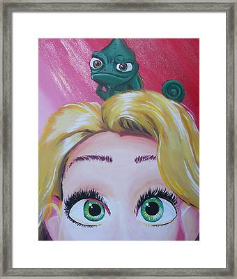 Pascal And Rapunzel Framed Print