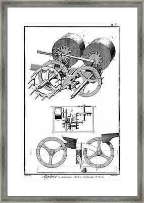 Pascal's Digital Counting Machine Framed Print