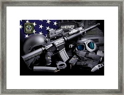 Pasco Sheriff Tactical Framed Print by Gary Yost