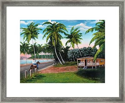 Paseo Por La Isla Framed Print by Luis F Rodriguez
